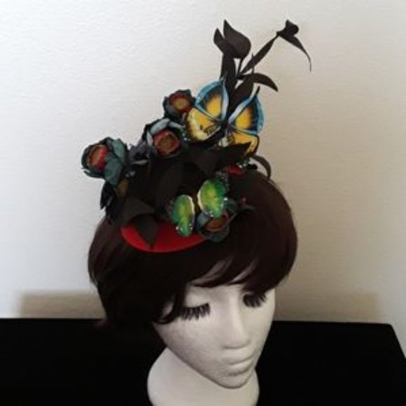Creative Designs Accessories - Butterfly & Flowers Kentuckly Derby Fascinator NEW